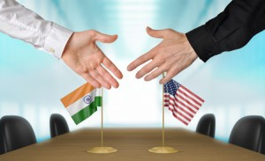 43829244 - india and united states diplomats agreeing on a deal