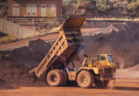 32769551 - dump truck at bauxite quarry